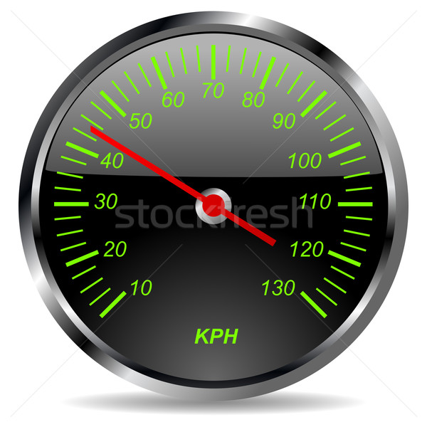 Dashboard oude auto witte energie gas pijl Stockfoto © lirch