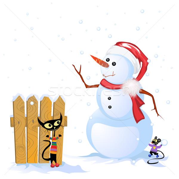 冬 カード 休日 お祝い グラフィック 実例 ストックフォト © lirch