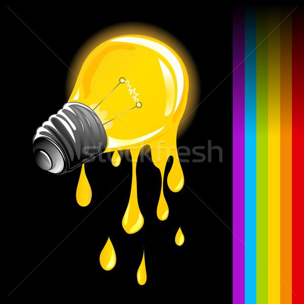 Draining light bulb Stock photo © lirch