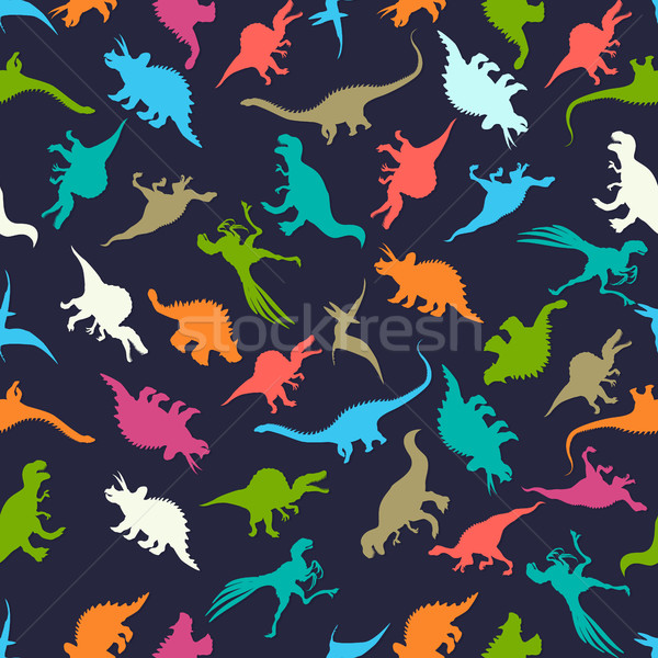 Seamless Dinosaurs Stock photo © lirch