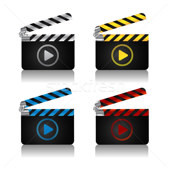 Movie clapper board icons Stock photo © lirch