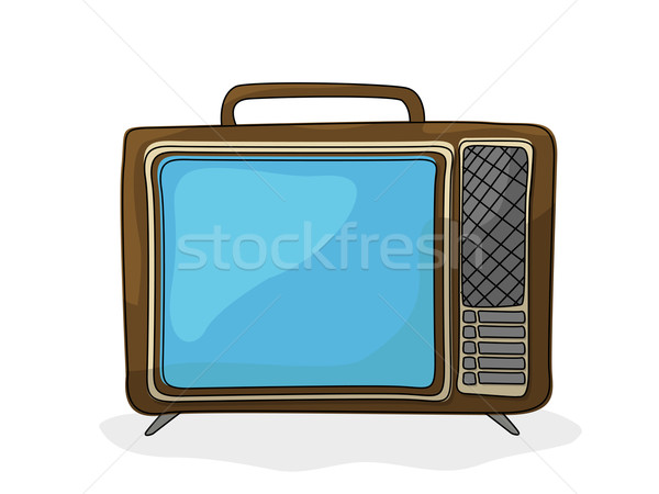 Retro cartoon  tv Stock photo © lirch