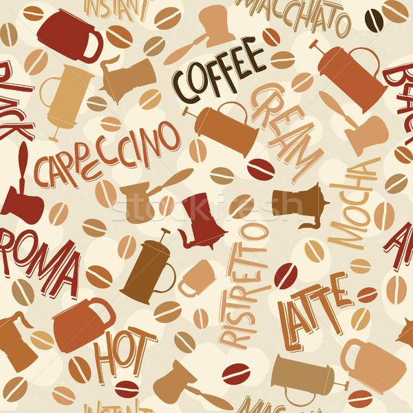 кофе шаблон дизайна аннотация фон Сток-фото © lirch