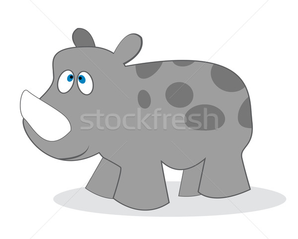 clip art rhino Stock photo © lirch