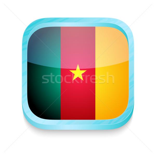 Knop Kameroen vlag telefoon frame Stockfoto © lirch