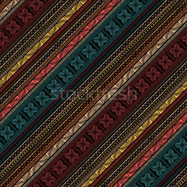 Plemiennych wzór bezszwowy geometryczny wzór stylu tekstury Zdjęcia stock © lirch