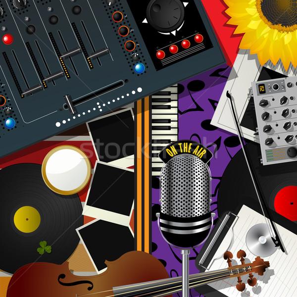 Recados moderno música vetor arte projeto Foto stock © lirch