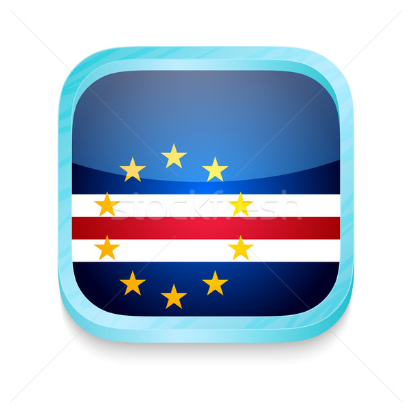Smart phone button with Cape Verde flag Stock photo © lirch