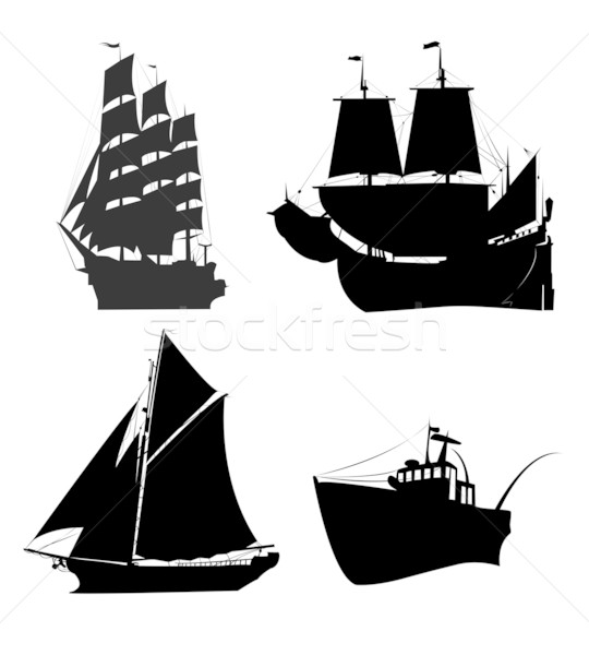 Ships silhouette Stock photo © lirch