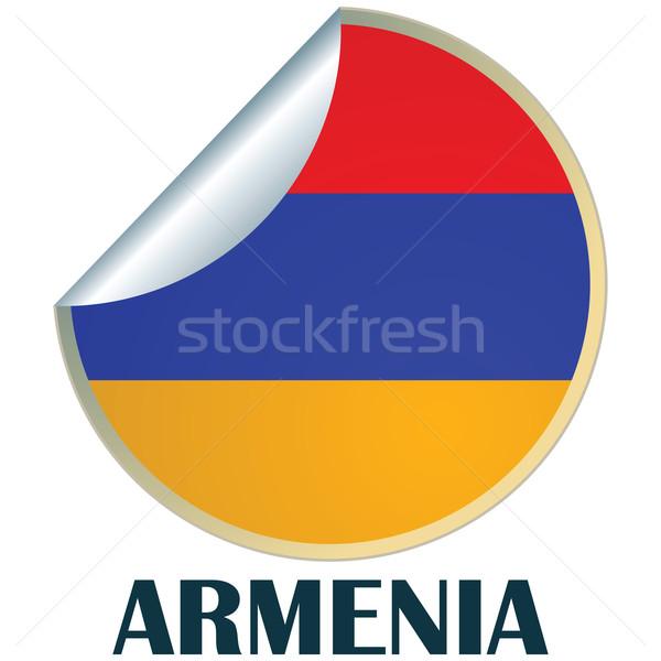 Armênia adesivo bandeira projeto assinar distintivo Foto stock © lirch