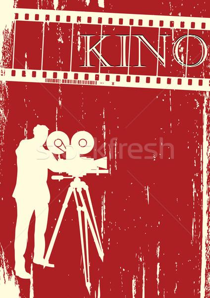 映画 映画 ポスター レイアウト グランジ 抽象的な ストックフォト © lirch