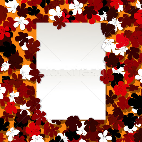 Message floral design Stock photo © lirch
