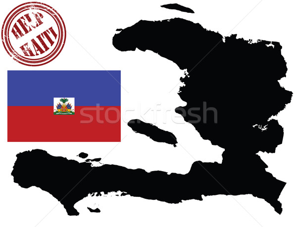 地図 フラグ ハイチ 孤立した インク 国 ストックフォト © lirch