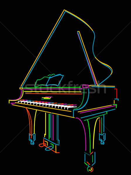 Grand piano Stock photo © lirch