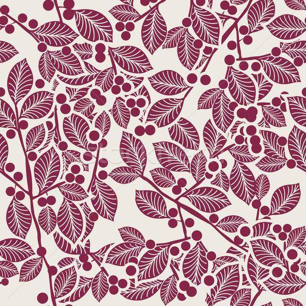 Art noveau padrão sem costura natureza quadro beleza Foto stock © lirch