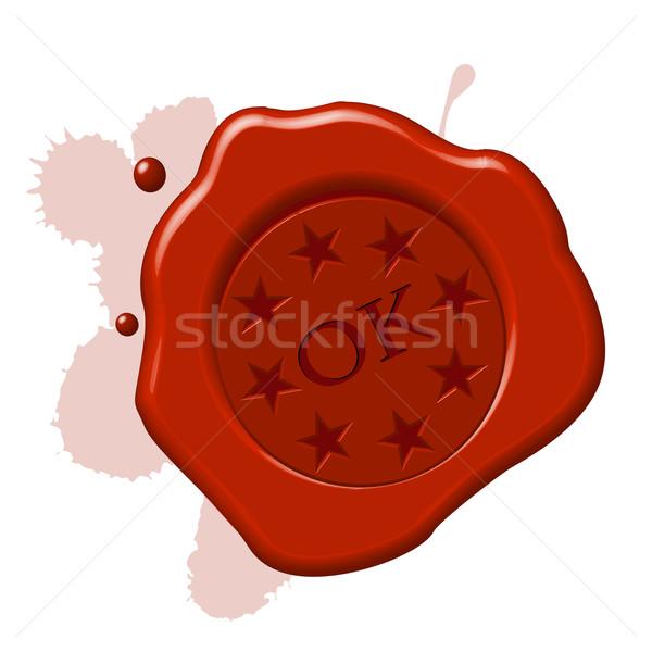 wax seal ok Stock photo © lirch