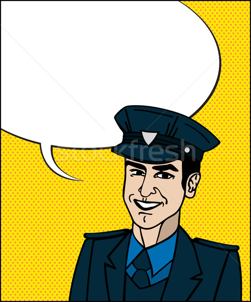 ポップアート 警官 コミック スタイル 図面 警察官 ストックフォト © lirch