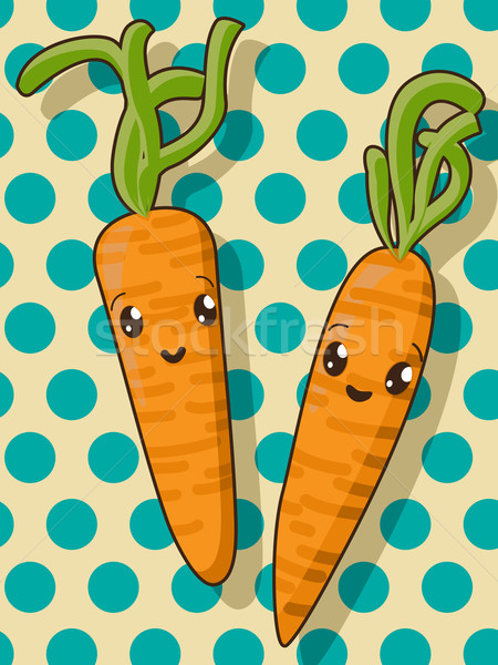 Kawaii carrot icons Stock photo © lirch