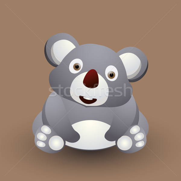 Cute baby koala Stock photo © lirch