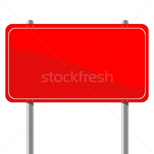 Red billboard Stock photo © lirch