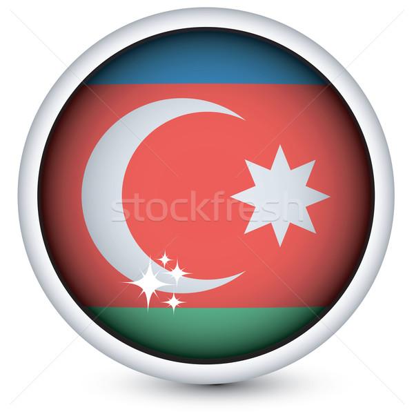 Азербайджан флаг кнопки сфере изолированный вектора Сток-фото © lirch