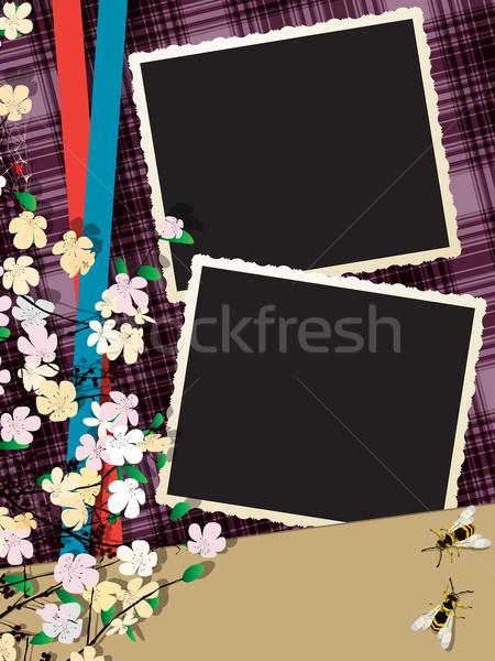 Natychmiastowy Fotografia kolaż ramki kopia przestrzeń projektu Zdjęcia stock © lirch