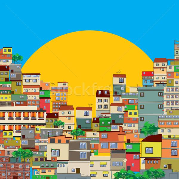 Favela Stock photo © lirch