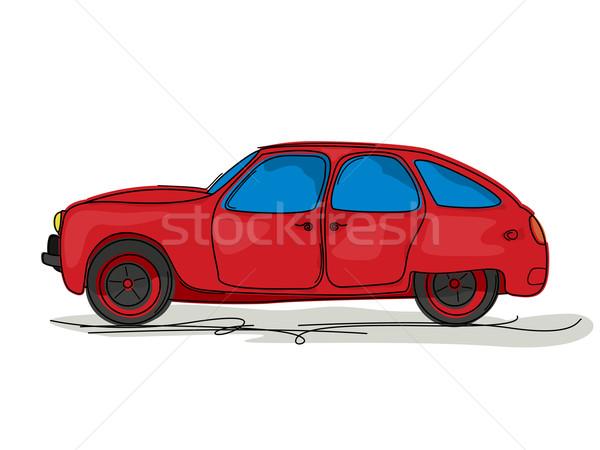 Sport car cartoon Stock photo © lirch