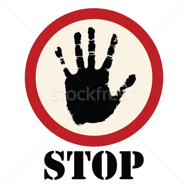 Stop sign  Stock photo © lirch