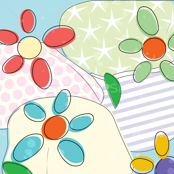 Pastel flowers design Stock photo © lirch