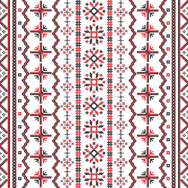 Roemeense patroon ontwerp witte textuur Stockfoto © lirch