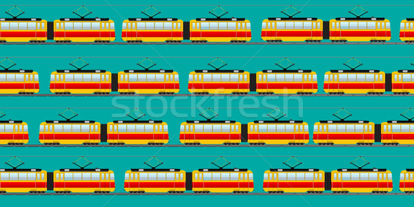 Vintage tram car pattern Stock photo © lirch