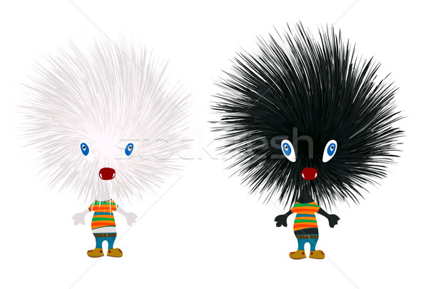 стилизованный иконки белый ребенка игрушку смешные Сток-фото © lirch