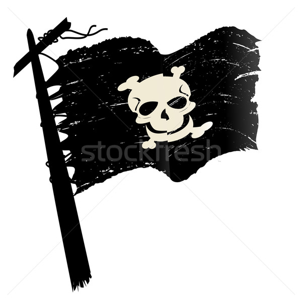 Grunge pirate flag Stock photo © lirch
