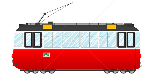 Vintage tram Stock photo © lirch
