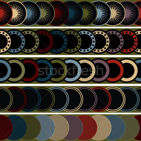 A seamless retro pattern Stock photo © lirch