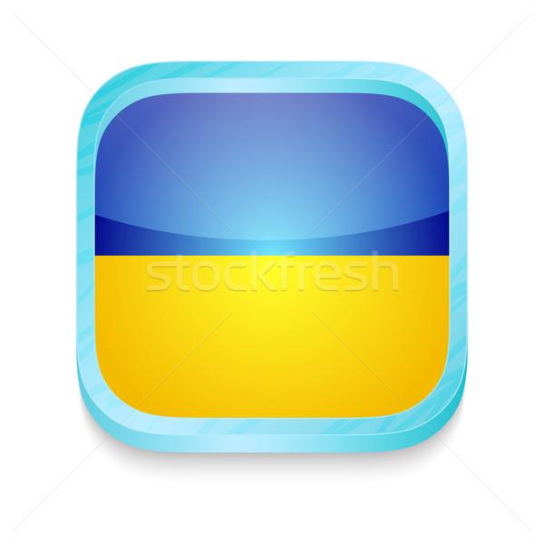 Botão Ucrânia bandeira telefone quadro Foto stock © lirch