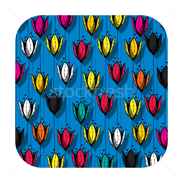 Tulip field button Stock photo © lirch