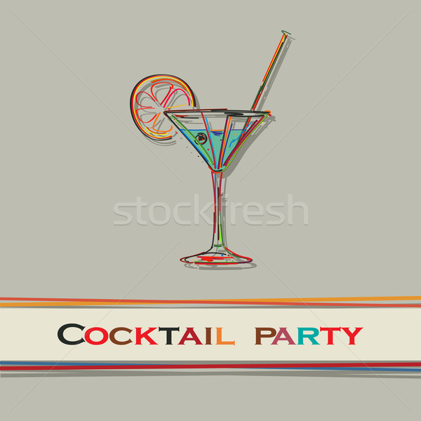 Cocktail menu Stock photo © lirch