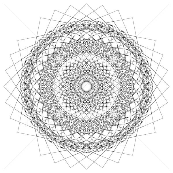 Abstract geometric shape Stock photo © lirch