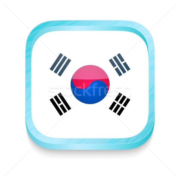 кнопки Южная Корея флаг телефон кадр Сток-фото © lirch