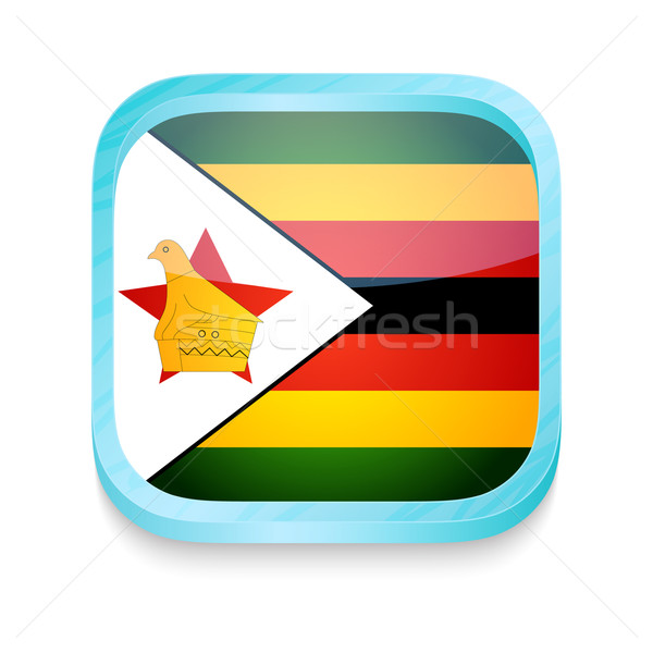 Smart phone button with Zimbabwe flag Stock photo © lirch