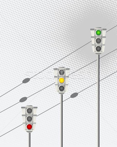 светофор аннотация искусства оранжевый знак красный Сток-фото © lirch
