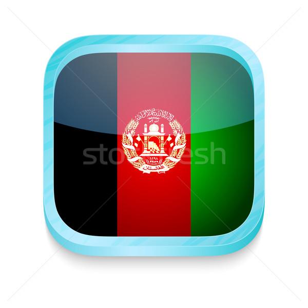 Düğme Afganistan bayrak telefon çerçeve Stok fotoğraf © lirch