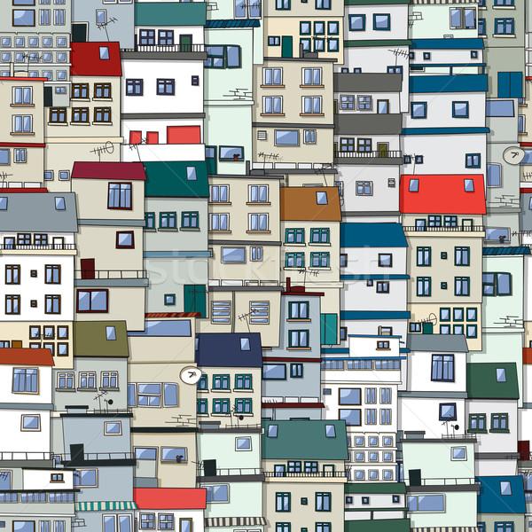 Old town seamless pattern Stock photo © lirch