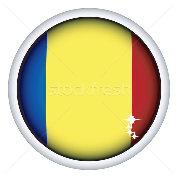 Roemeense vlag knop bol geïsoleerd object Stockfoto © lirch