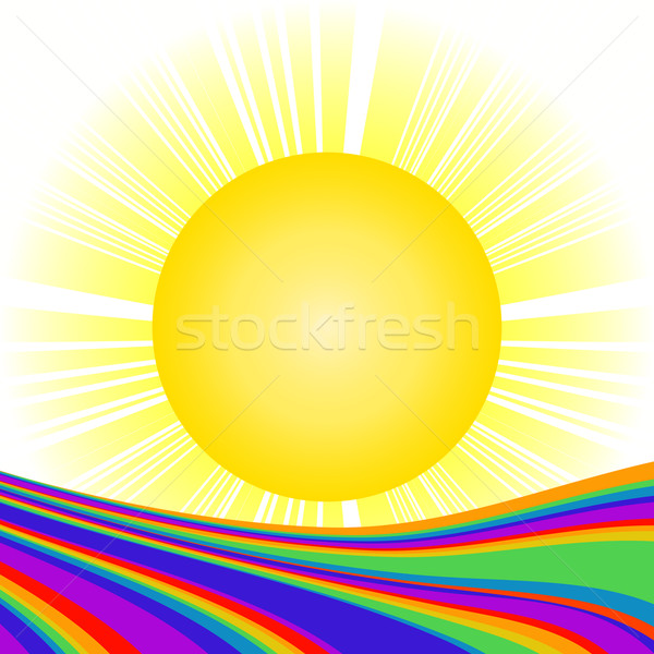 Zon regenboog glimlach licht frame zomer Stockfoto © lirch