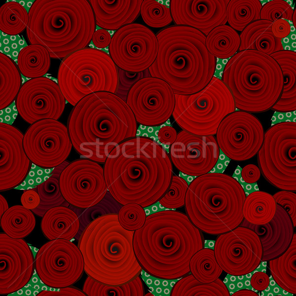 Abstract decorative roses pattern Stock photo © lirch