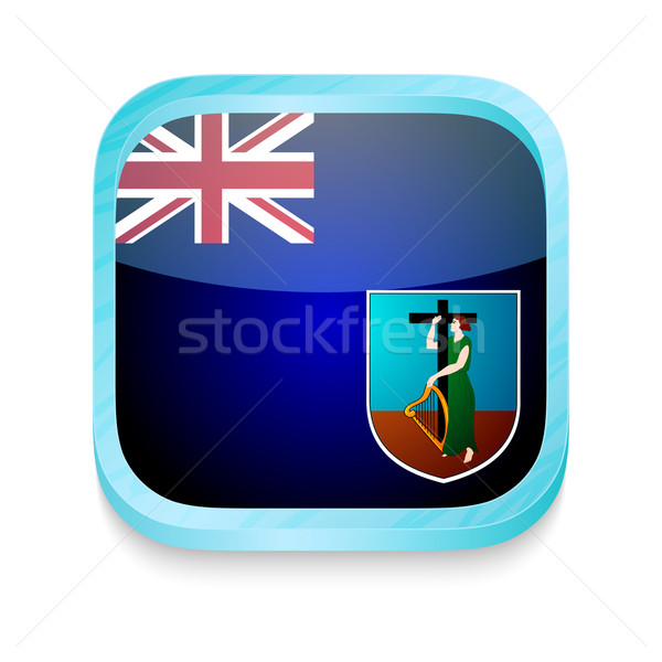 Smart phone button with Montserrat flag Stock photo © lirch