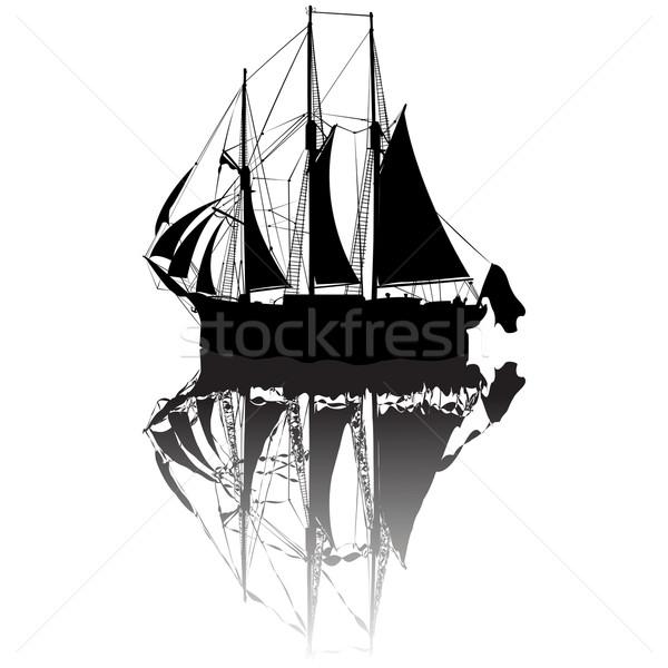 Sailing boat sketch Stock photo © lirch